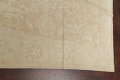 Vegetable Dye Muted Gold Oushak Turkish Hand-Knotted Runner Rug 7x16 image 12
