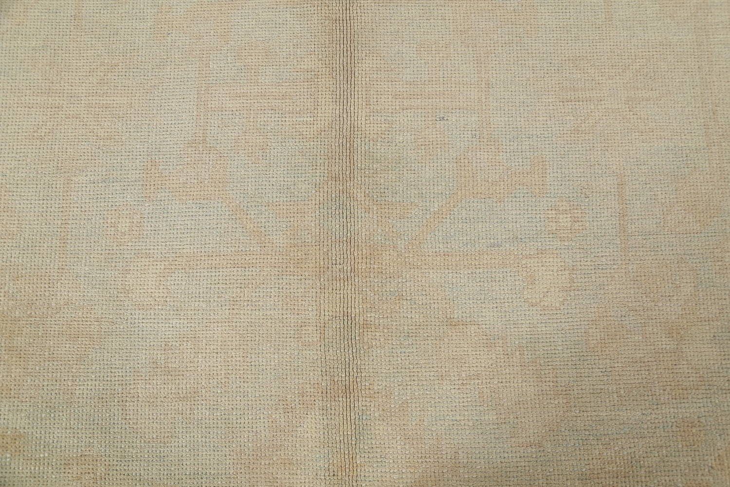 Vegetable Dye Muted Pale Blue Oushak Turkish Hand-Knotted Runner Rug 7x17 image 9