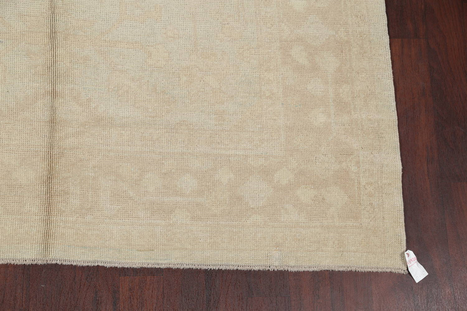 Vegetable Dye Muted Pale Blue Oushak Turkish Hand-Knotted Runner Rug 7x17 image 6