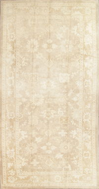 Vegetable Dye Muted Oushak Turkish Hand-Knotted Area Rug 6x8