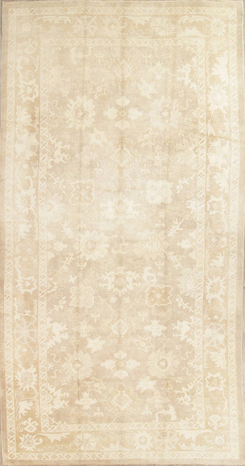 Vegetable Dye Muted Oushak Turkish Hand-Knotted Area Rug 8x16 image 1