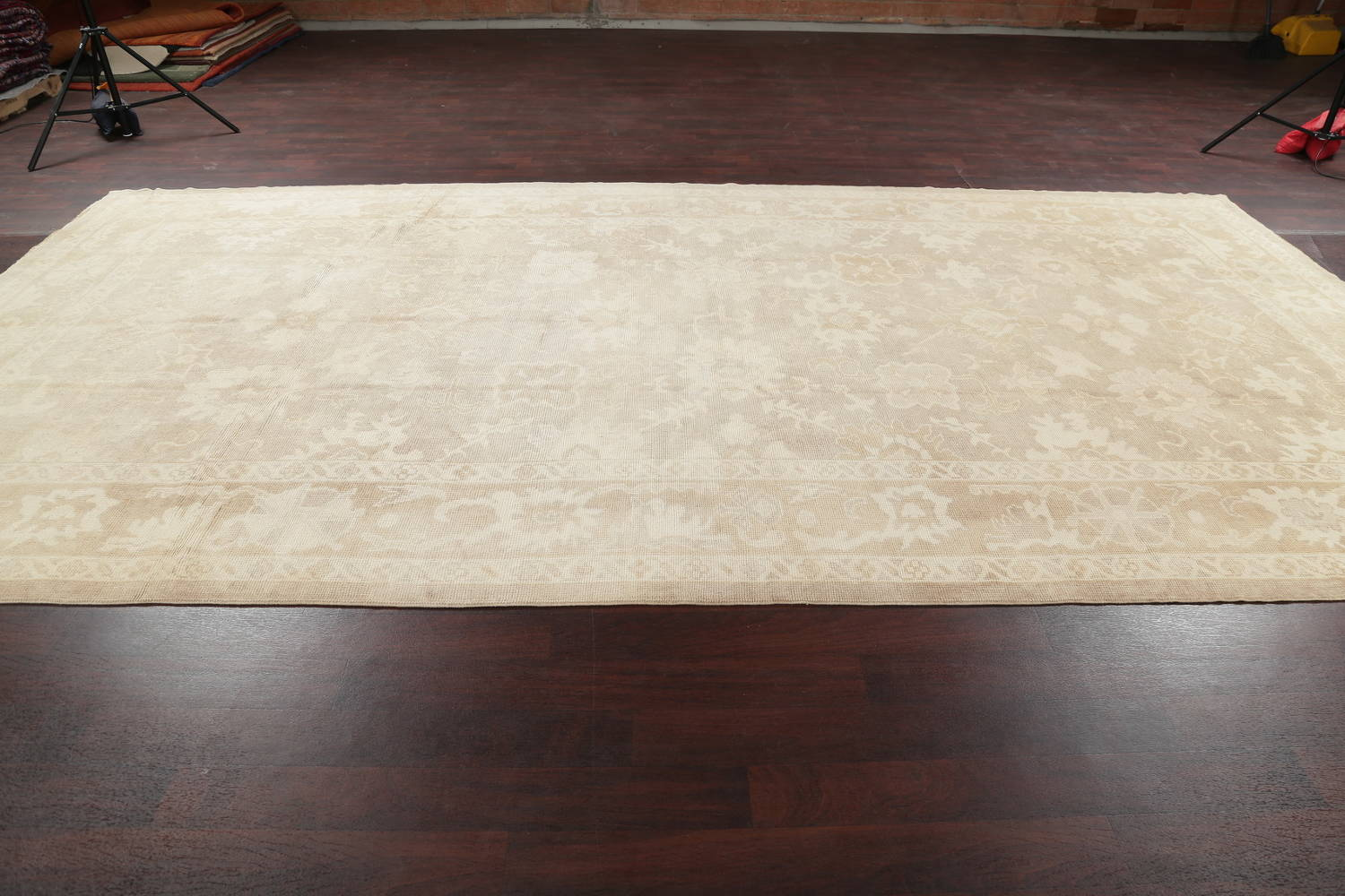 Vegetable Dye Muted Oushak Turkish Hand-Knotted Area Rug 8x16 image 14