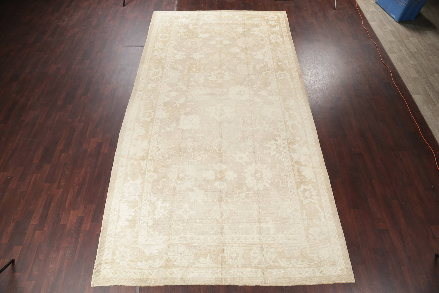 Vegetable Dye Muted Oushak Turkish Hand-Knotted Area Rug 8x16 image 2