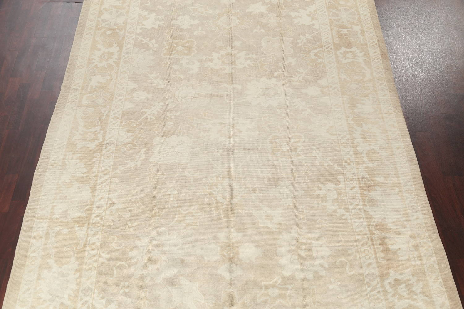 Vegetable Dye Muted Oushak Turkish Hand-Knotted Area Rug 8x16 image 3
