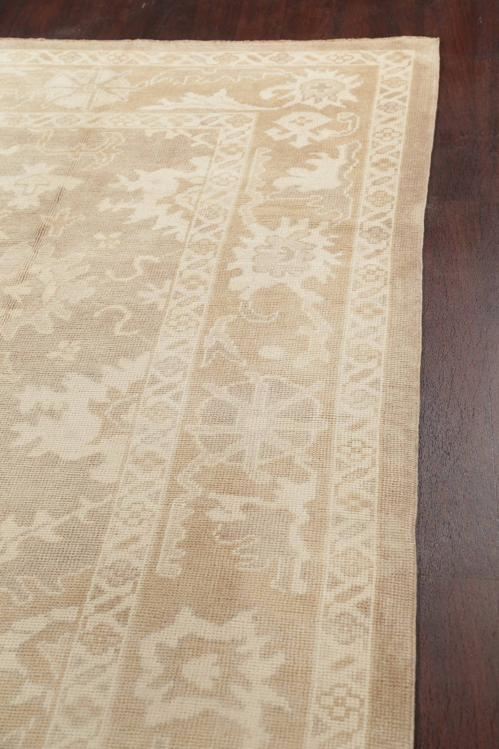 Vegetable Dye Muted Oushak Turkish Hand-Knotted Area Rug 8x16 image 13