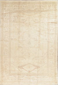 Vegetable Dye Muted Oushak Turkish Hand-Knotted Area Rug 9x13