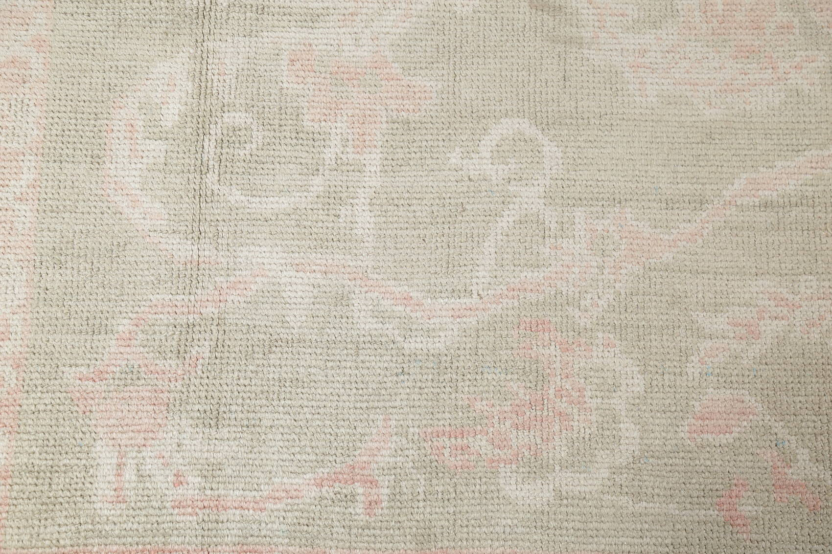 Vegetable Dye Muted Sage Green Oushak Turkish Hand-Knotted 8x11 Area Rug