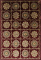 Geometric Red Aubusson Kathmando Oriental Hand-Knotted Area Rug 10x15 image 1