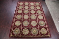 Geometric Red Aubusson Kathmando Oriental Hand-Knotted Area Rug 10x15 image 2