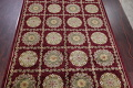 Geometric Red Aubusson Kathmando Oriental Hand-Knotted Area Rug 10x15 image 3