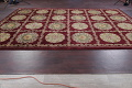 Geometric Red Aubusson Kathmando Oriental Hand-Knotted Area Rug 10x15 image 12