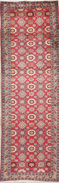 All-Over Floral Tabriz Persian Runner Rug 3x9