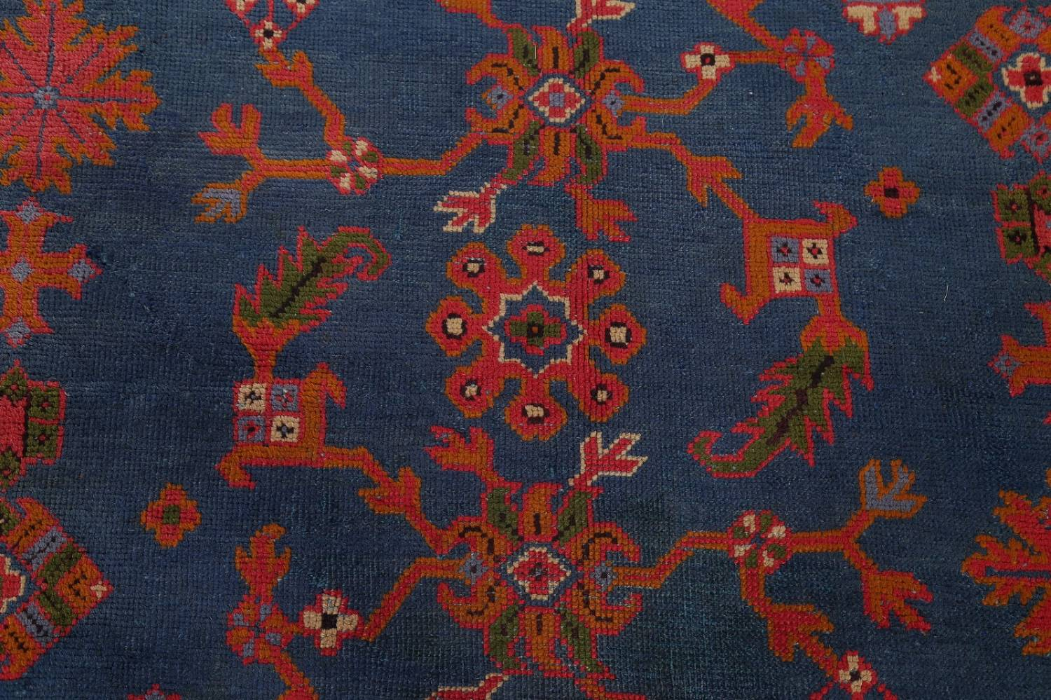 Antique Vegetable Dye Oushak Turkish Hand-Knotted Area Rug Wool 11x16 image 12