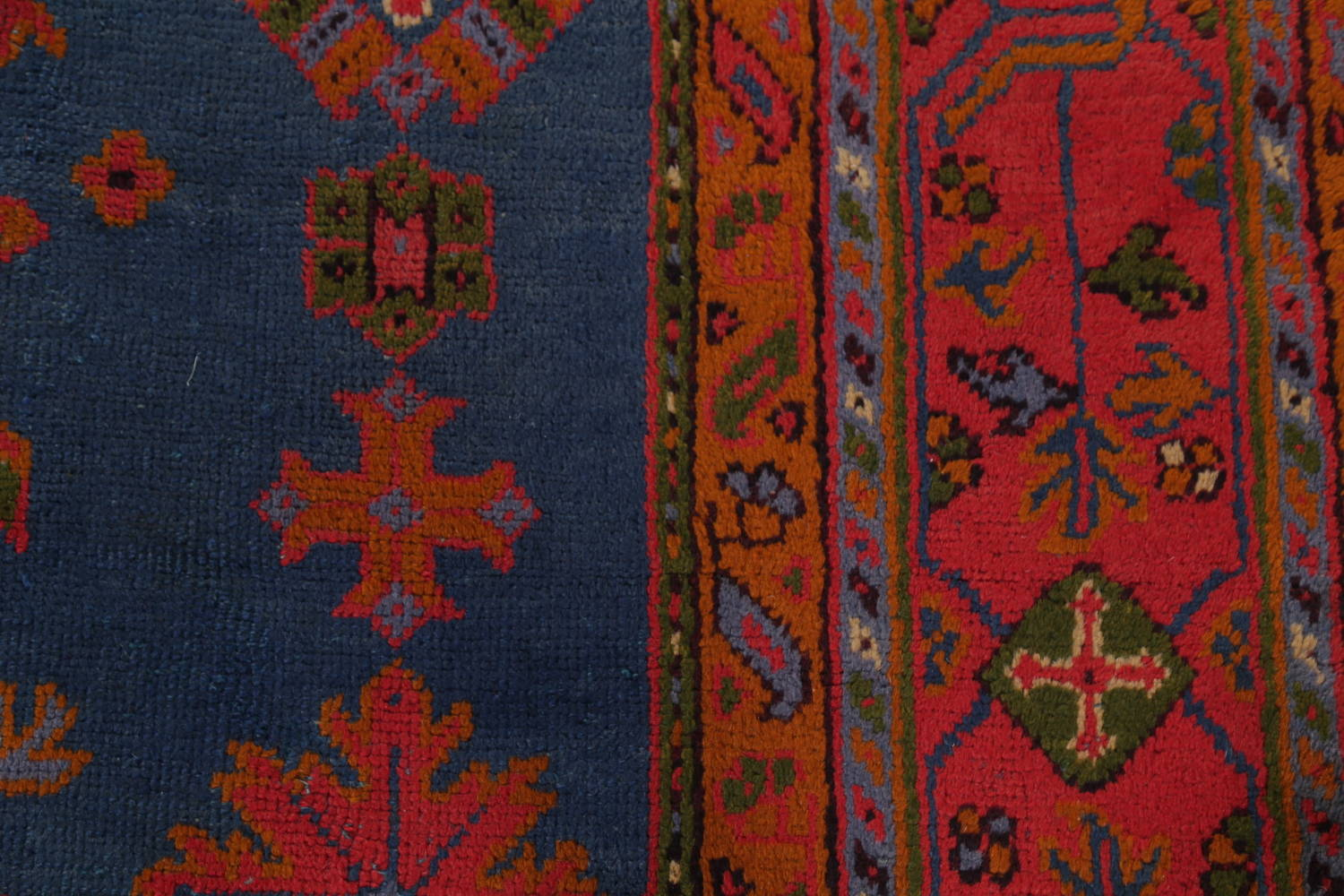Antique Vegetable Dye Oushak Turkish Hand-Knotted Area Rug Wool 11x16 image 15