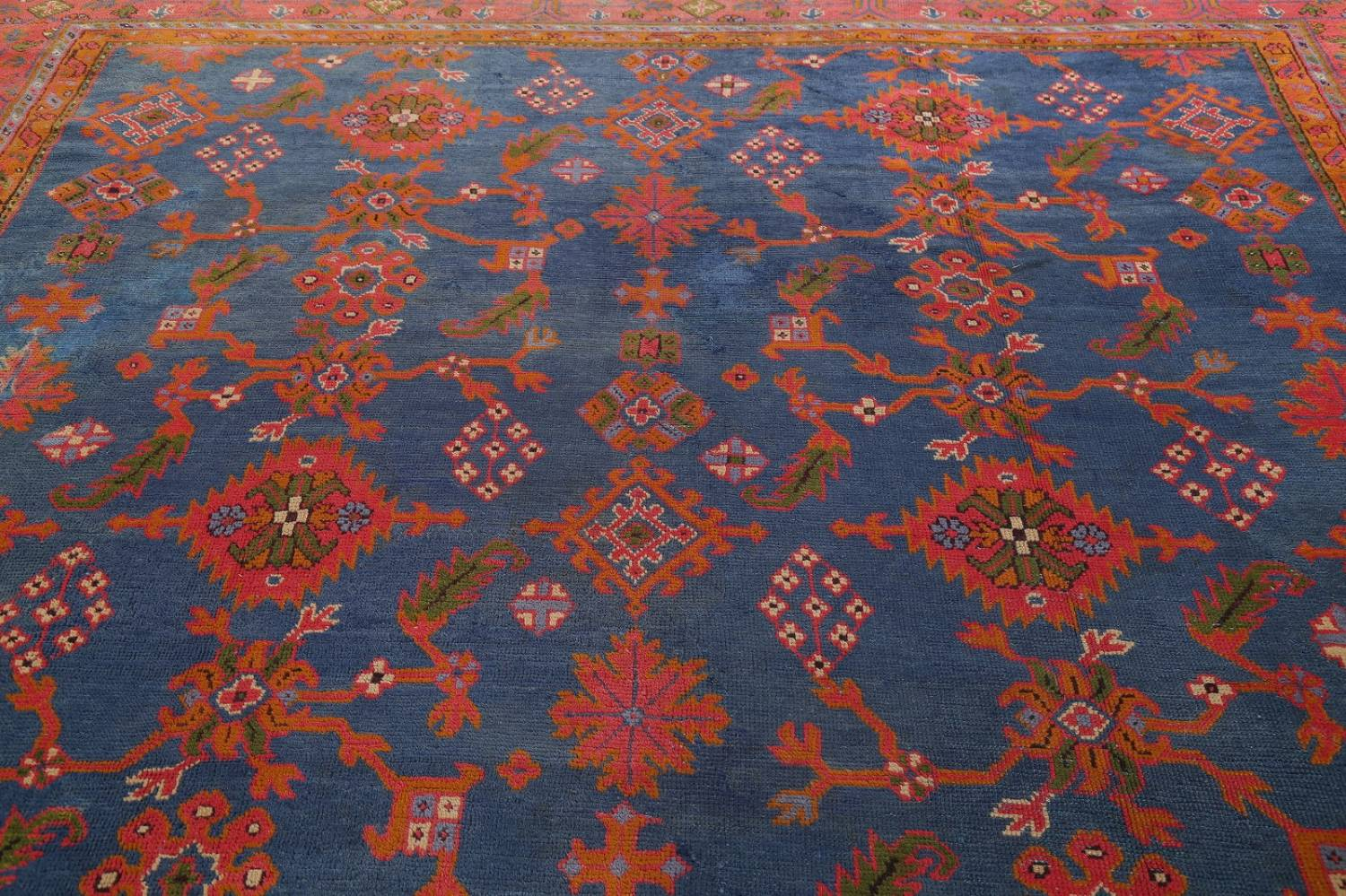 Antique Vegetable Dye Oushak Turkish Hand-Knotted Area Rug Wool 11x16 image 16