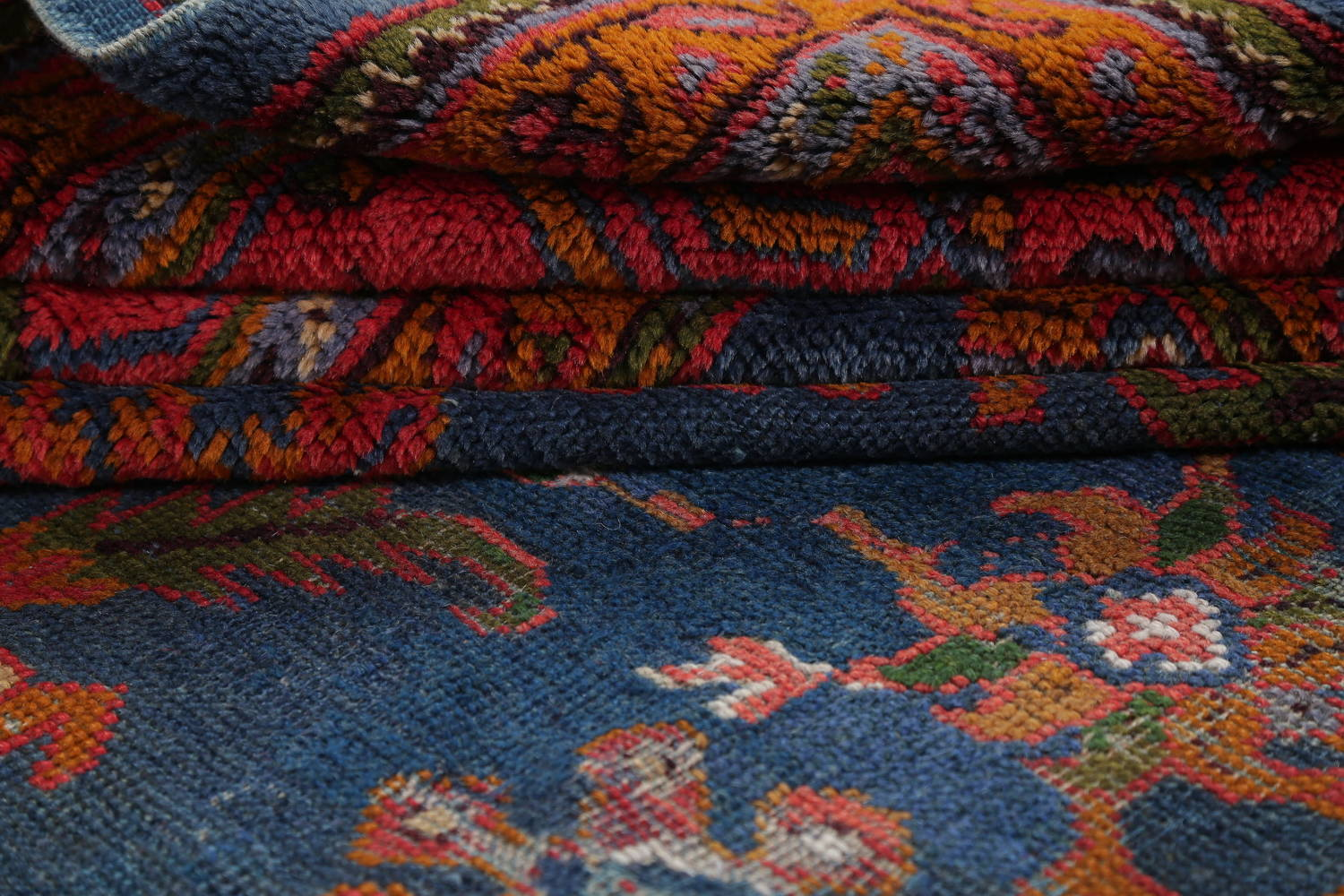 Antique Vegetable Dye Oushak Turkish Hand-Knotted Area Rug Wool 11x16 image 20