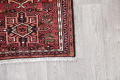 Geometric Red Gharajeh Persian Hand-Knotted Runner Rug Wool 3x10 image 6