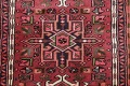 Geometric Red Gharajeh Persian Hand-Knotted Runner Rug Wool 3x10 image 9