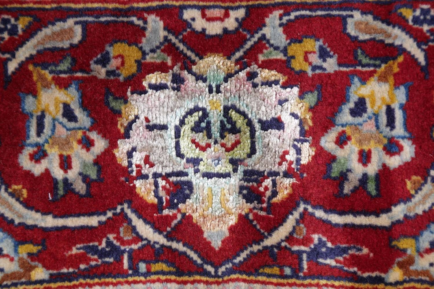Vegetable Dye Floral Blue Kashan Persian Hand-Knotted Area Rug Wool 5x7 image 7