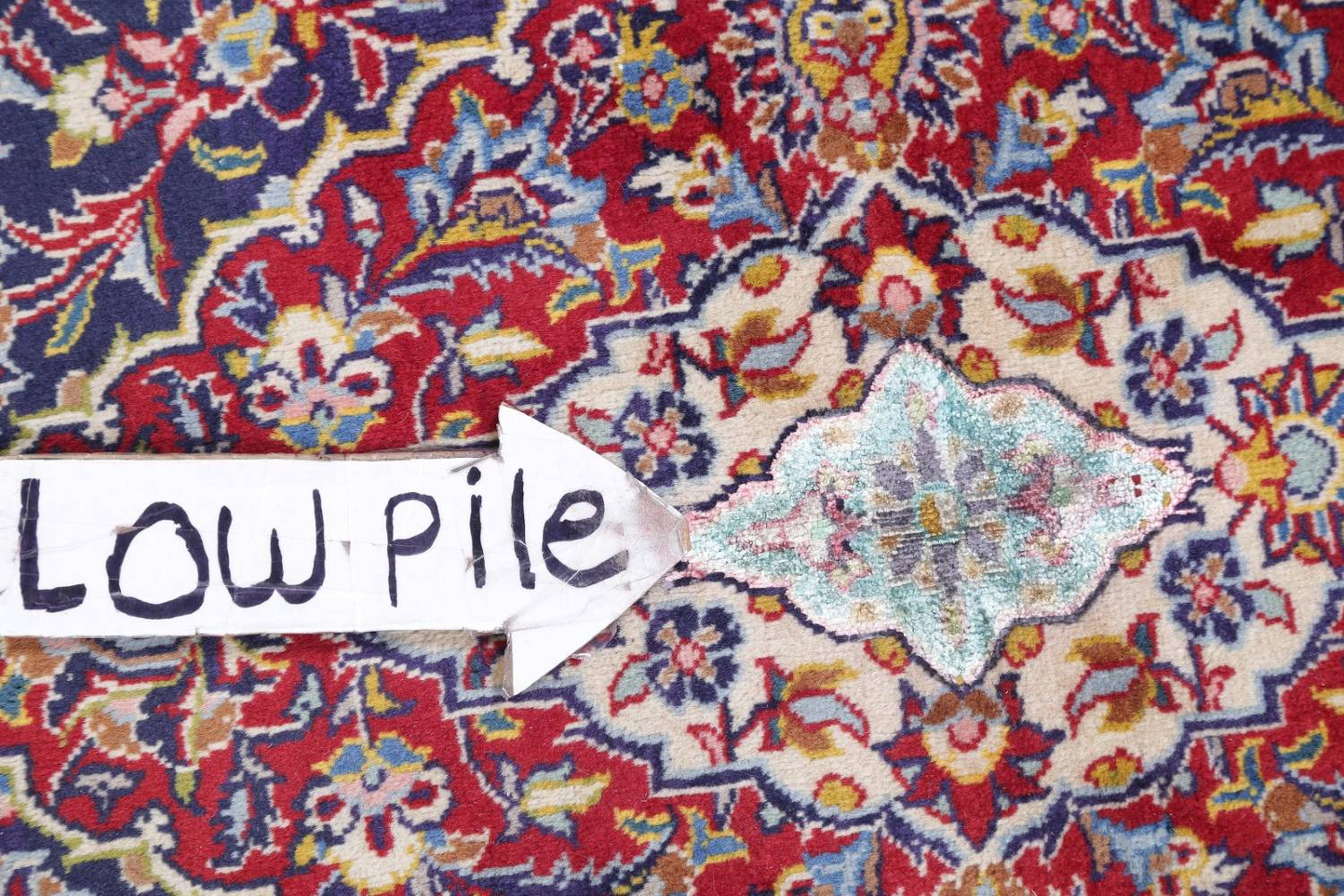 Vegetable Dye Floral Blue Kashan Persian Hand-Knotted Area Rug Wool 5x7 image 13