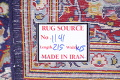 Vegetable Dye Floral Blue Kashan Persian Hand-Knotted Area Rug Wool 5x7 image 23