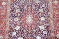 Vegetable Dye Floral Blue Kashan Persian Hand-Knotted Area Rug Wool 5x7 image 4