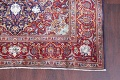 Vegetable Dye Floral Blue Kashan Persian Hand-Knotted Area Rug Wool 5x7 image 6