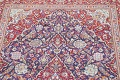 Vegetable Dye Floral Blue Kashan Persian Hand-Knotted Area Rug Wool 5x7 image 14