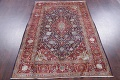Vegetable Dye Floral Blue Kashan Persian Hand-Knotted Area Rug Wool 5x7 image 17