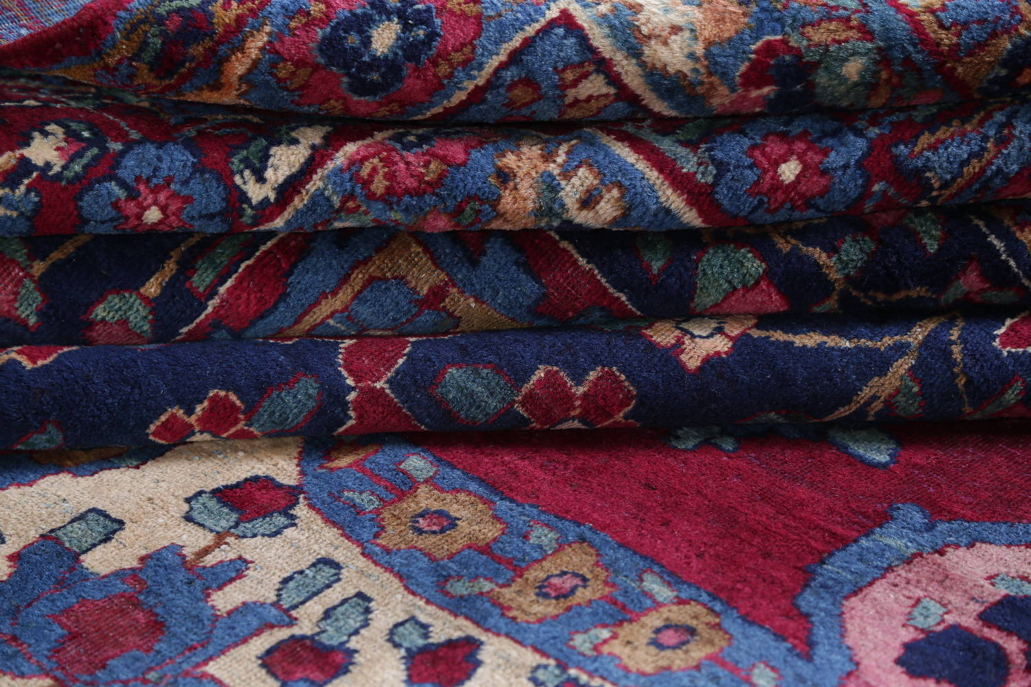 Pre-1900 Vegetable Dye Yazd Antique Persian Hand-Knotted  11x15 Wool Area Rug image 23
