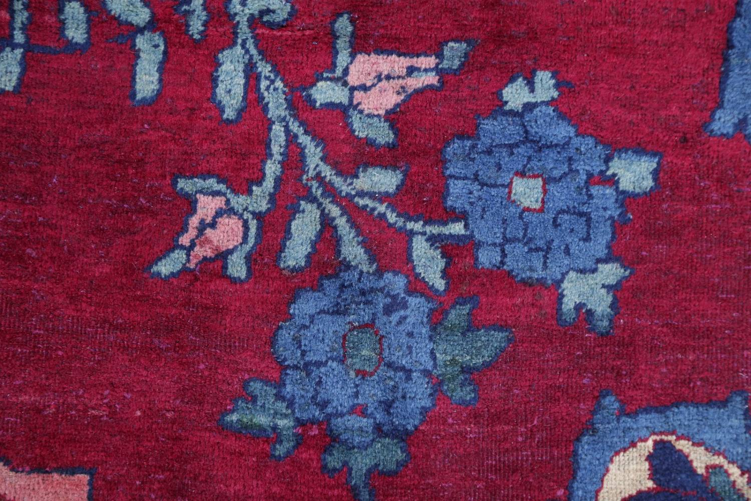 Pre-1900 Vegetable Dye Yazd Antique Persian Hand-Knotted  11x15 Wool Area Rug image 7