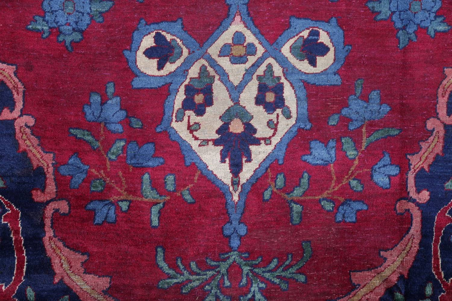 Pre-1900 Vegetable Dye Yazd Antique Persian Hand-Knotted  11x15 Wool Area Rug image 8