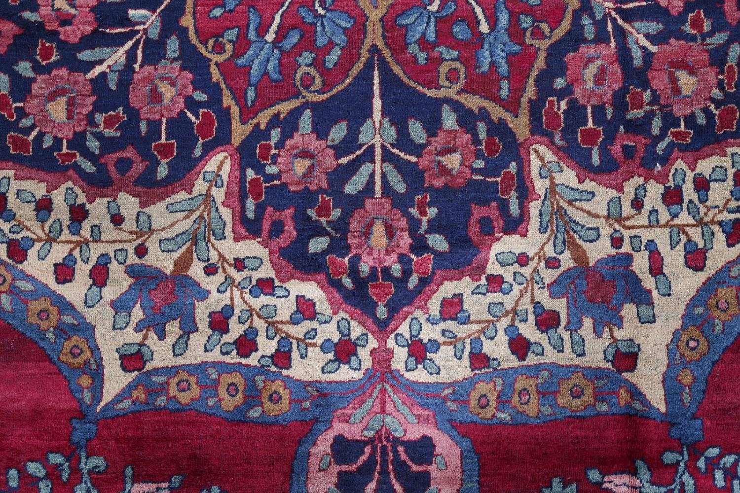 Pre-1900 Vegetable Dye Yazd Antique Persian Hand-Knotted  11x15 Wool Area Rug image 9