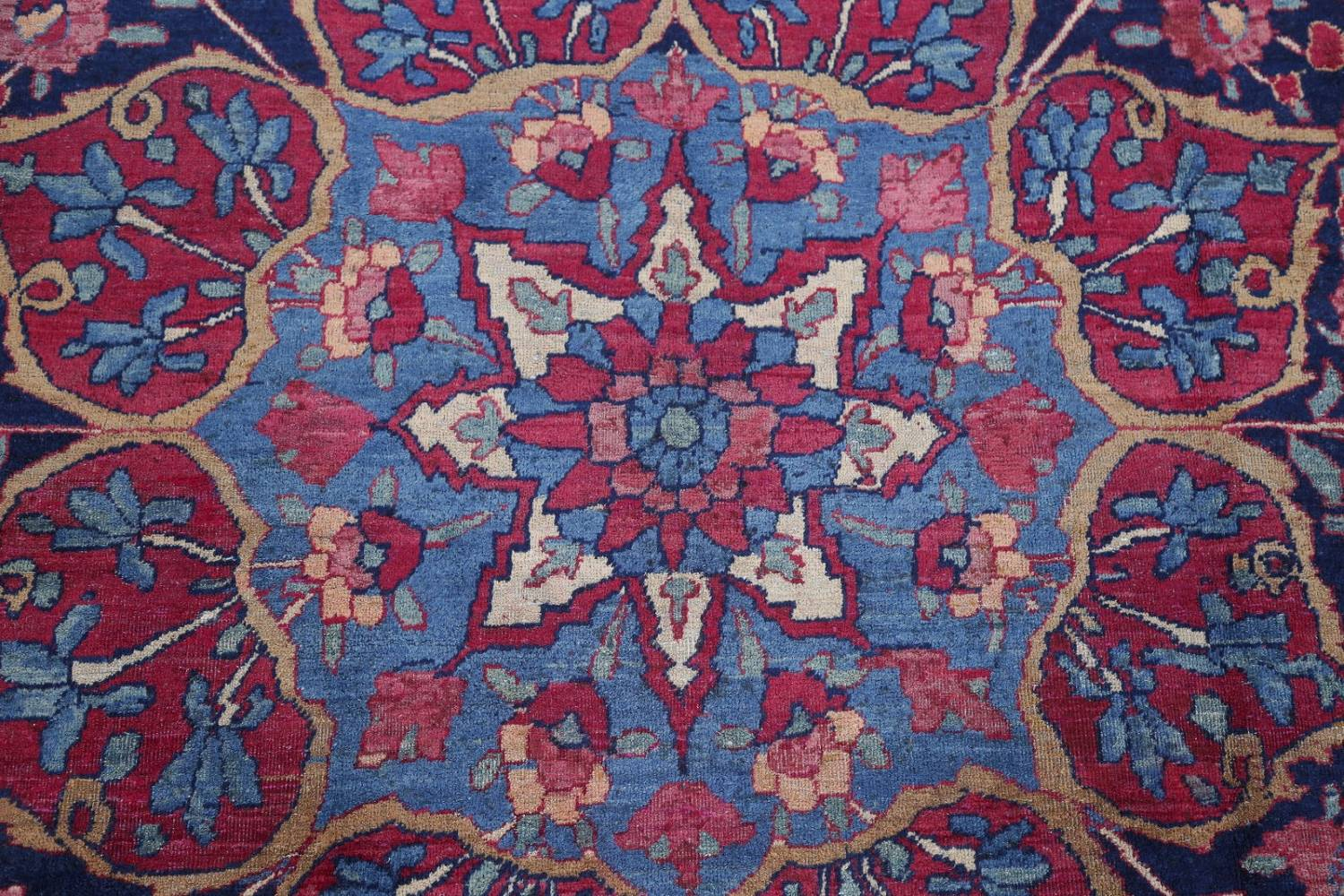 Pre-1900 Vegetable Dye Yazd Antique Persian Hand-Knotted  11x15 Wool Area Rug image 10