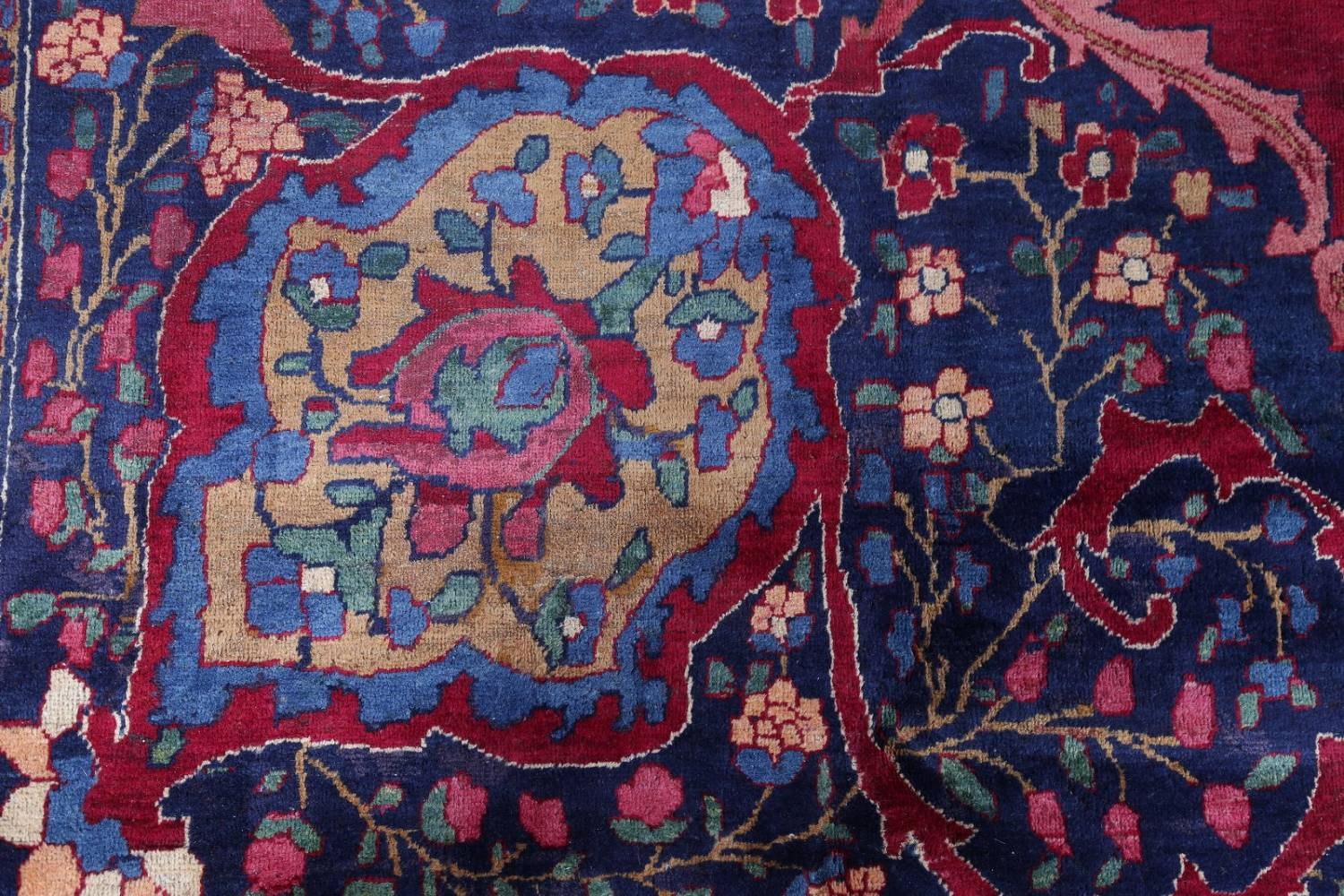 Pre-1900 Vegetable Dye Yazd Antique Persian Hand-Knotted  11x15 Wool Area Rug image 11