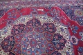 Pre-1900 Vegetable Dye Yazd Antique Persian Hand-Knotted  11x15 Wool Area Rug image 14