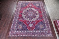 Pre-1900 Vegetable Dye Yazd Antique Persian Hand-Knotted  11x15 Wool Area Rug image 2