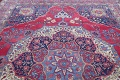 Pre-1900 Vegetable Dye Yazd Antique Persian Hand-Knotted  11x15 Wool Area Rug image 18