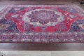 Pre-1900 Vegetable Dye Yazd Antique Persian Hand-Knotted  11x15 Wool Area Rug image 20