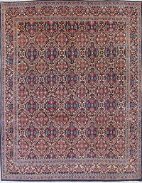 All-Over Kashmar Persian Hand-Knotted 10x13 Wool Area Rug