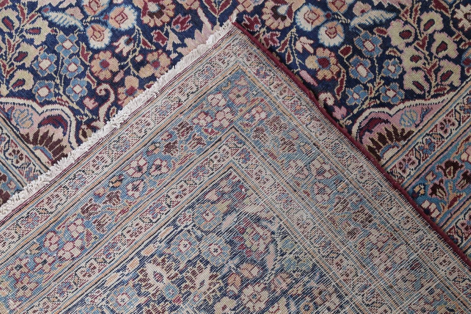 Pre-1900 Antique Floral Mashad Persian Hand-Knotted 10x13 Burgundy Area Rug image 24