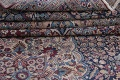 Pre-1900 Antique Floral Mashad Persian Hand-Knotted 10x13 Burgundy Area Rug image 20