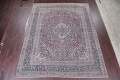 Pre-1900 Antique Floral Mashad Persian Hand-Knotted 10x13 Burgundy Area Rug image 2