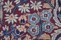 Pre-1900 Antique Floral Mashad Persian Hand-Knotted 10x13 Burgundy Area Rug image 7