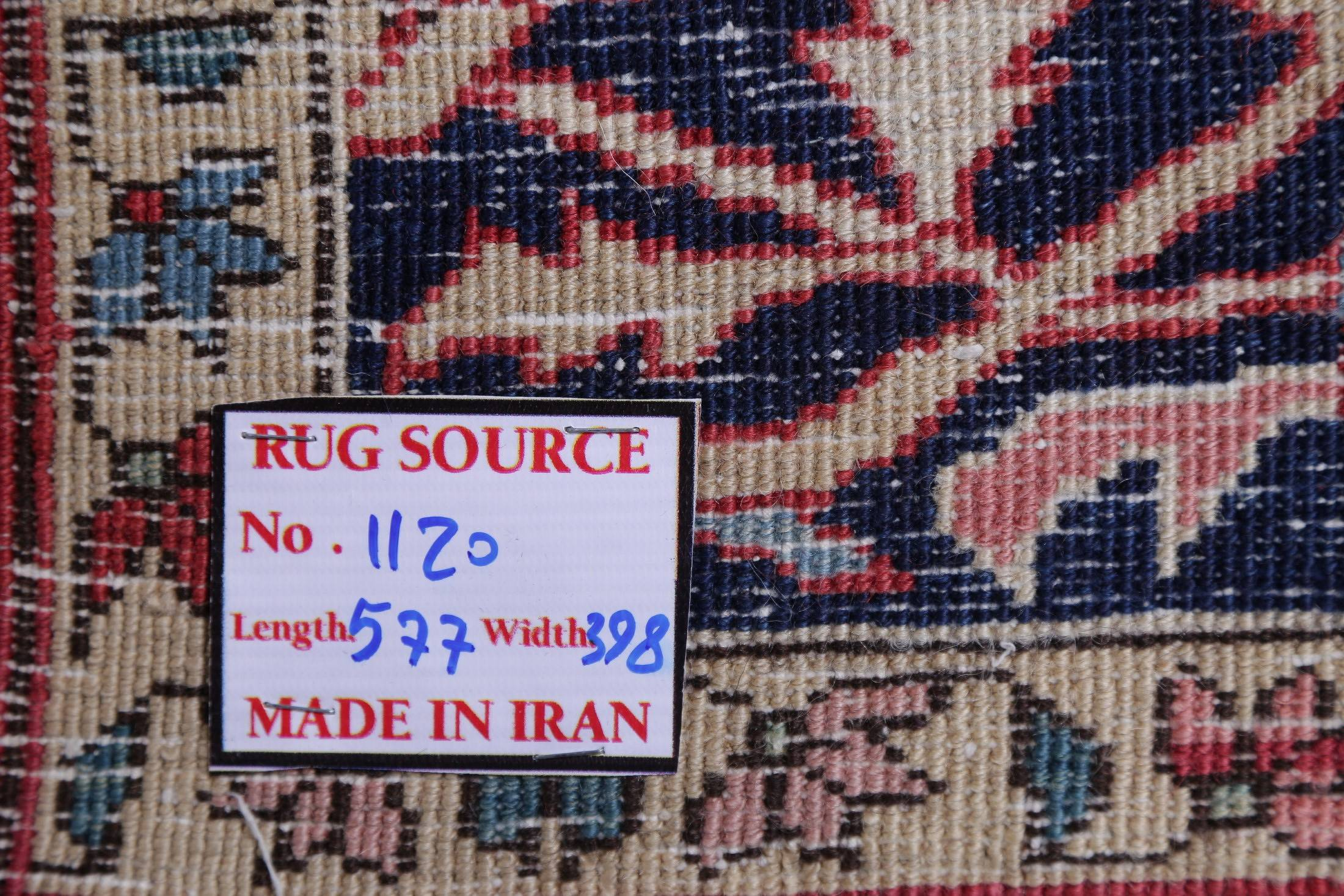 Vegetable Dye Antique Heriz Serapi Persian Hand-Knotted 13x19 Red Wool Rug