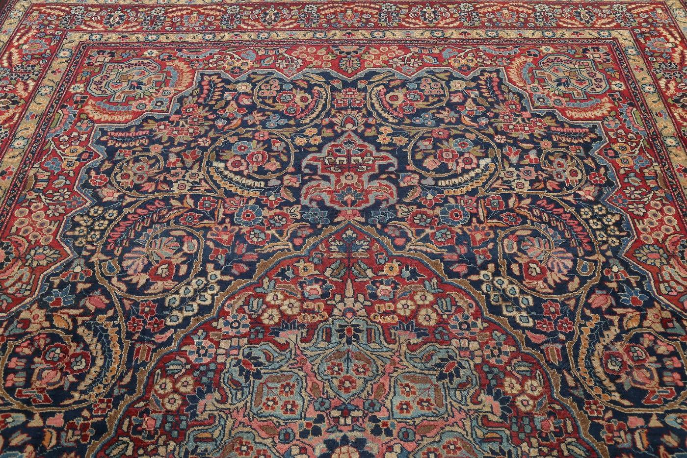 Antique Vegetable Dye Khoy Tabriz Persian Hand-Knotted 9x12 Area Rug