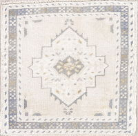 Muted Oushak Turkish Hand-Knotted 2x2 Square Wool Rug