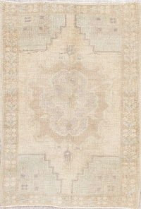 Oushak Turkish Oriental Hand-Knotted 2x3 Muted Wool Rug