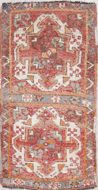 Antique Oushak Turkish Oriental Hand-Knotted 2x3 Wool Rug