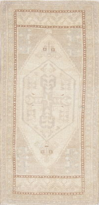 Muted Color Oushak Turkish Oriental Hand-Knotted 2x3 Wool Rug